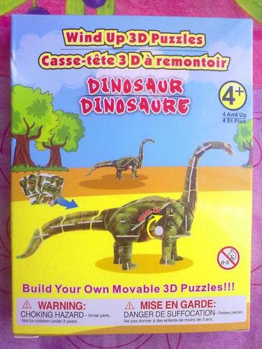 dinosaurio prehistorico  de cuerda para armar