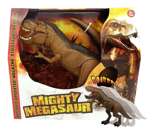 dinosaurio t-rex c/ luz sonido mighty megasaur 80072 bigshop