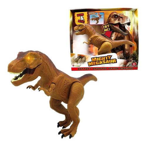 dinosaurio tiranosaurio juguete con movimiento de mordida