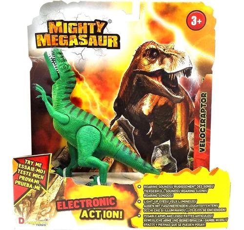 dinosaurio velociraptor mighty megasaur luz y sonido cuotas