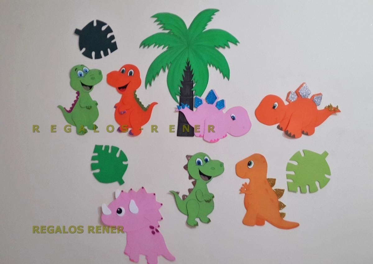Dinosaurios Bebe Figuras De Goma Eva Entrega Inmediata 3800 En - Bebe-de-goma-eva