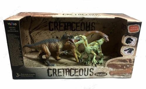 dinosaurios cretaceous set x 4