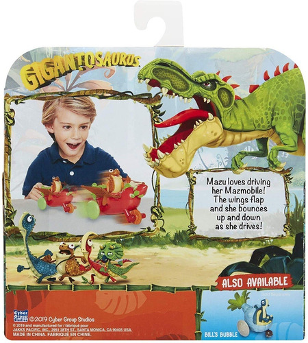 dinosaurios gigantosaurus mazu en auto mundo bajitos
