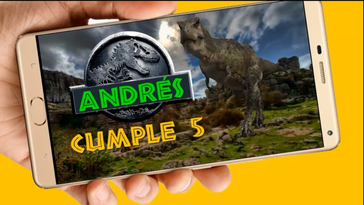 Dinosaurios Vídeo Tarjeta Invitación Cumpleaños Whatsapp