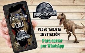 Dinosaurios Vídeo Tarjeta Invitación Jurasick Park 4 Fotos