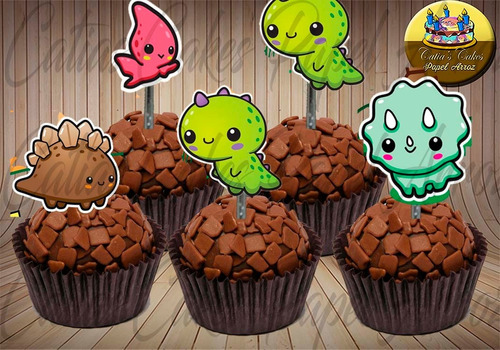 dinossauro baby 50 topper  para doces