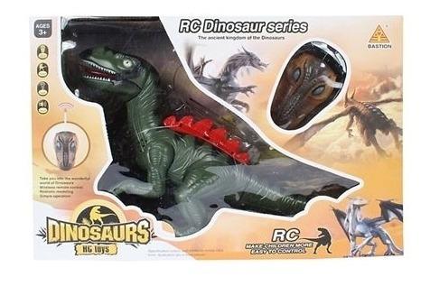 dinossauro controle remoto robo grande rotação luz grande