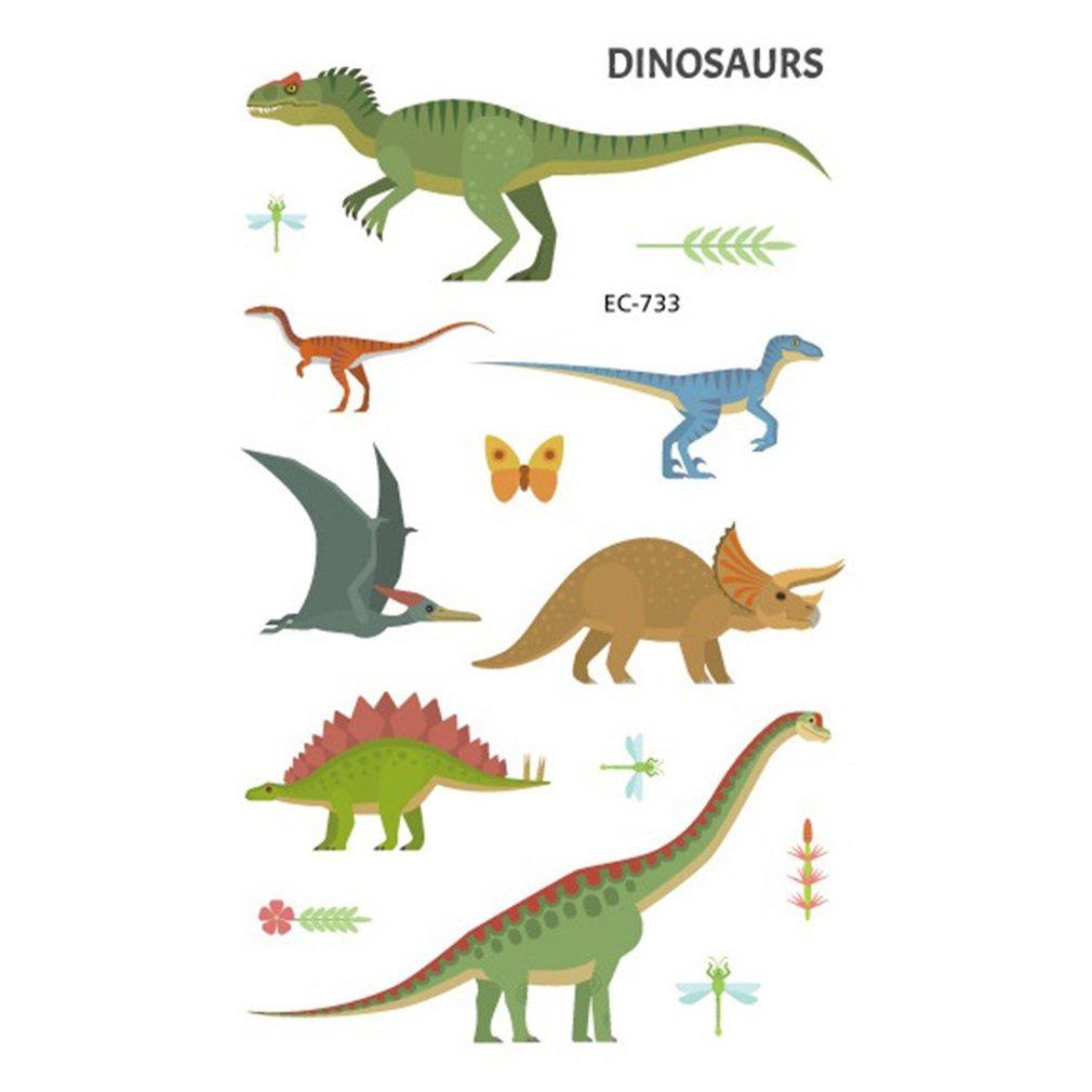 Dinossauro Desenho Animado Animal Tatuagem Stickers Criancas R