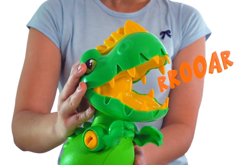 dinossauro didático toy rex com som - samba toys
