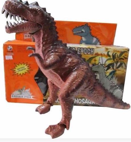 dinossauro eletônico 3d- anda e acende os olhos