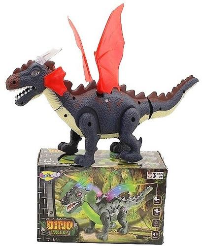 dinossauro eletrônico brinquedo com luz led som e anda