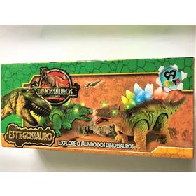 Dinossauro Estegossauro Anda Luz Som C/ Movimento - Promoção