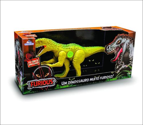 dinossauro gigante 60cm com som articulado furious adijomar