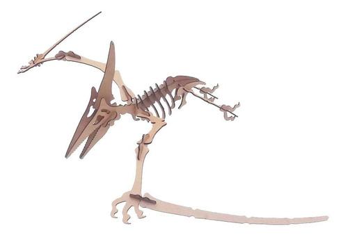 dinossauro pterodáctilo mdf 3d quebra-cabeça puzzle genitori