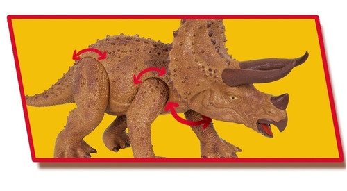 dinossauro triceratops 45cm c/ som cotiplas