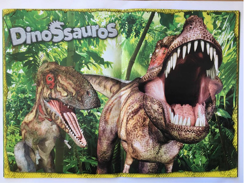 dinossauros album completo com figurinhas para colar