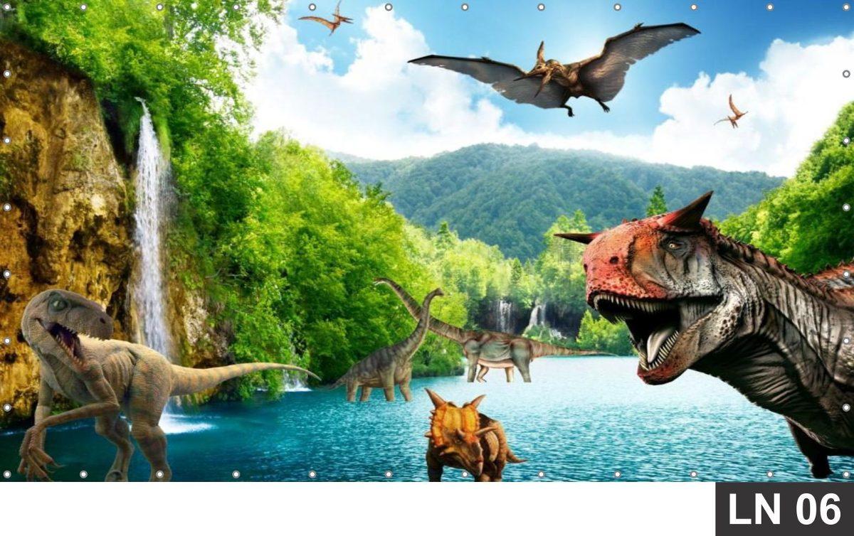Dinossauros Painel 2 00x1 00 Lona Festa Banner Aniversario