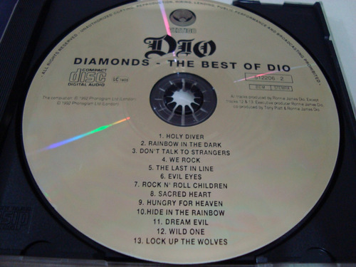 dio diamonds  best of dio   limited gold cd edition  cd