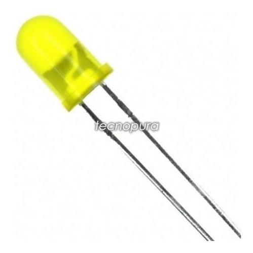 diodo led difuso 3mm luz alto brillo - pack x100 unidades