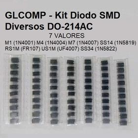 Diodo Smd M1 M4 M7 Ss14 Rs1m Us1m Ss34 Kit C/ 70 Pçs - Carta