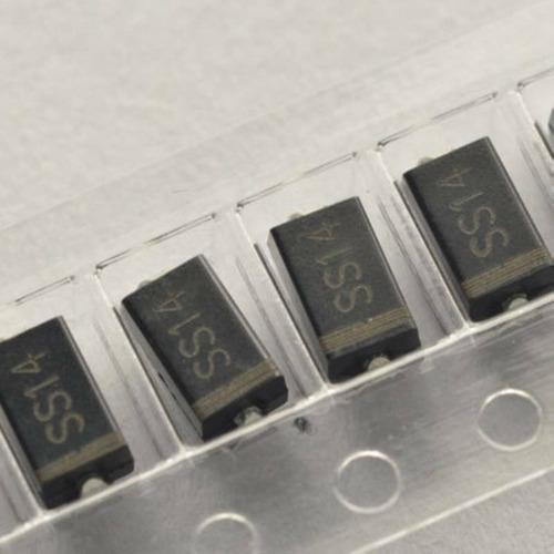 diodo ss14 smd in5819 schottky 1a 40v, lote 10 peças
