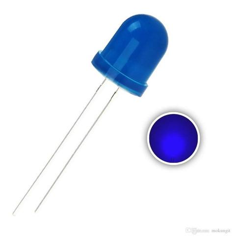 diodos led 10 mm redondos color azul pack x10 unidades
