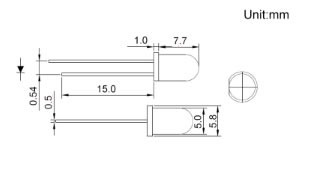 diodos led amarillo 5 mm redondos alto brillo x 50 unidades