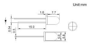 diodos led blancos 5 mm redondos alto brillo 2 patas x 10 un