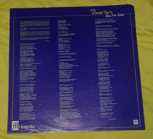 diomedes diaz ivan zuleta/ mi biografía/ vallenato/ lp 1997
