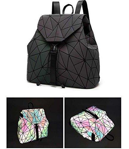 diomo geometrico lingge las mujeres mochila luminoso flash p