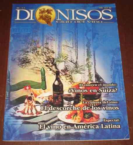 dionisos vinos n 25 junio julio 2002 suiza américa descorche