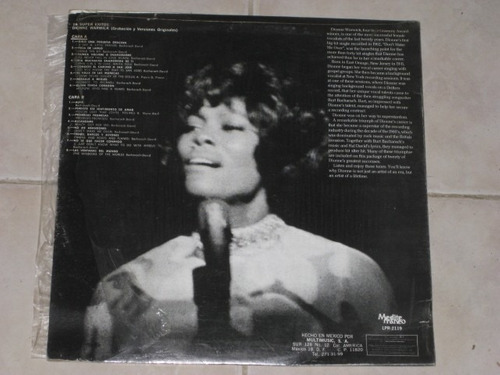 dionne warwick 16 super exitos disco lp acetato vinil