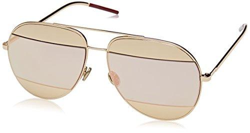 comprar popular 3ad22 4cd85 Dior Gafas De Sol De Aviador De Metal Split 59mm Para Mujer