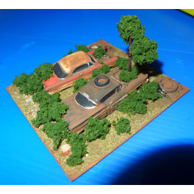 Diorama Ambiente Ferro Velho - 9cm X 9cm