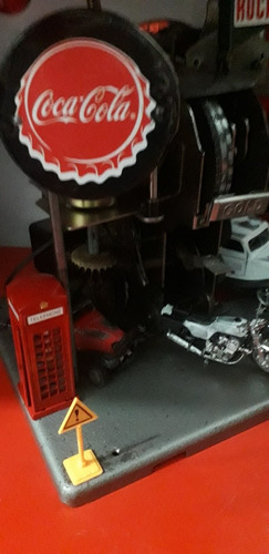 diorama  maquete lava rapido c oficina feito com sucatas art