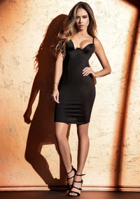Sensual Mini Vestido Diosa Negro 4519 Total Milf V219 Pknw8OX0