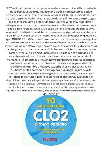 dioxido de cloro y mms