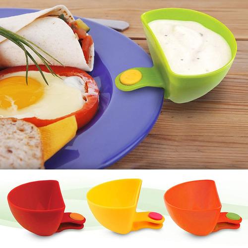dip it! condimentos y salsa bowls con clips d placa s