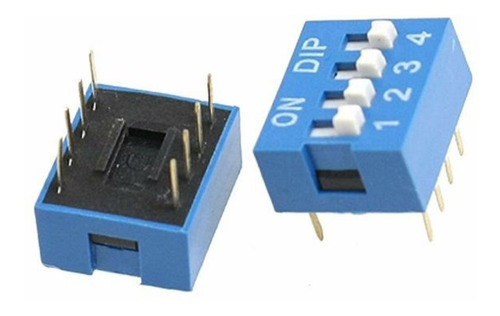 dip switch 4 posiciones 2.5mm azul