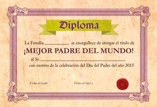 Diploma Dia Del Padre  Cuadros Personalizables Para Regalar
