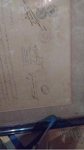 diploma enmarcado sellos fiscales belgas