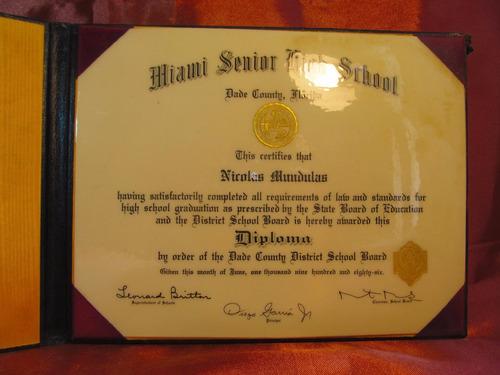 diploma miami senior high school nicolas mundulas 23516