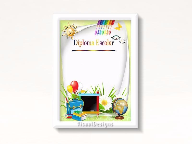 diploma moldura formatura kit escolar 1 artes prontas