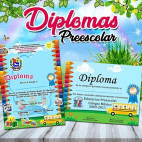 Diploma Preescolar Impreso En Opalina 225 Grs