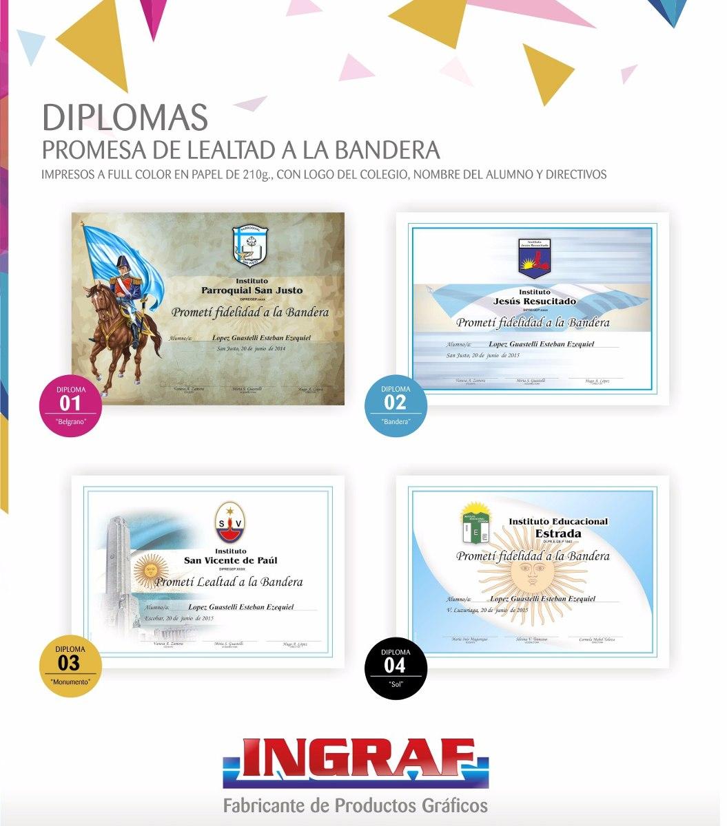 Diplomas Promesa A La Bandera en Mercado Libre Argentina