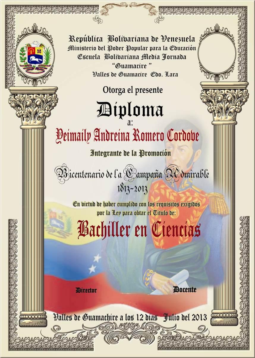 diplomas  bachiller 6to grado kinder tmedallas  placas