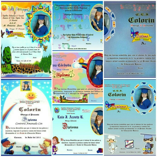 diplomas de graduacion preescolar