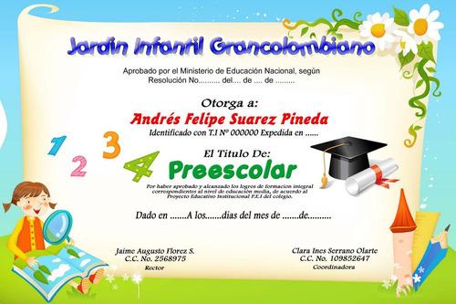 diplomas de graduación!!! preescolar básica bachillerato