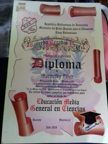 diplomas en pergamino y servicio de impresión