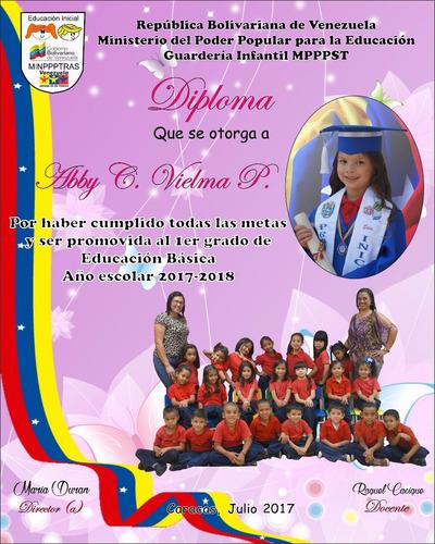 diplomas graduaciones preescolar